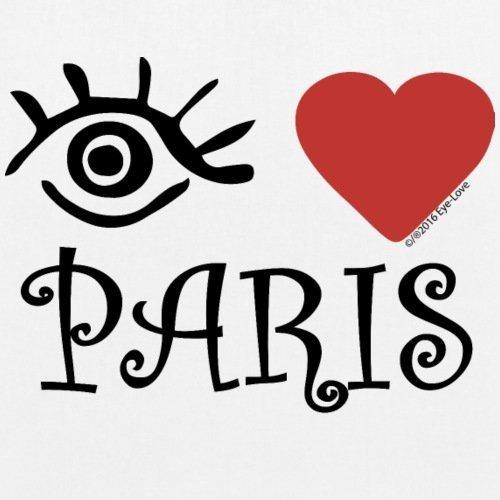 Eye-Love Paris Sac en tissu biologique de Spreadshirt® Blanc