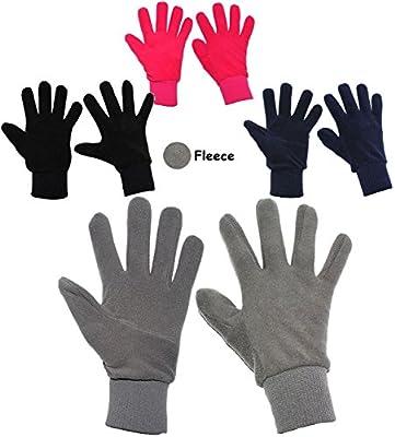 """Fleece Fingerhandschuhe _ sehr weich - """" bunte Farben """" - Größen: 3 Jahre bis Erwachsene Gr. 8 / Damen & Herren - LEICHT anzuziehen ! - mit extra langen Bündchen Kinder & Babyhandschuhe & Erwachsenenhandschuhe / Fleecehandschuhe - Fingerhandschuh Fleece-H"""