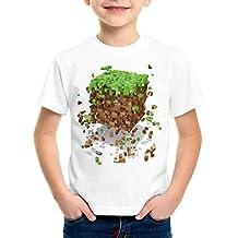 A.N.T. Exploding Cube T-Shirt pour enfants block dé jeu vidéo game