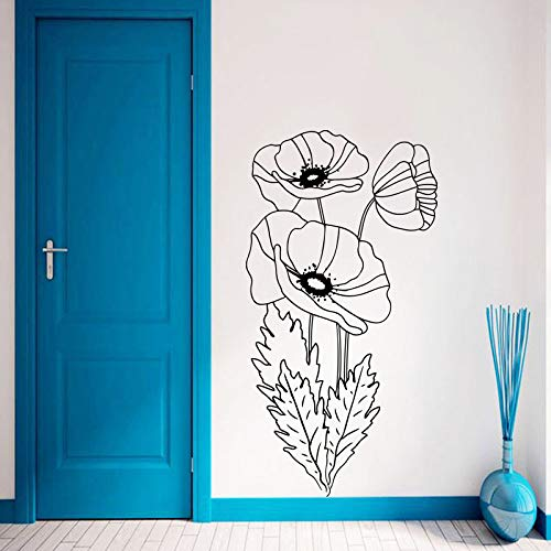 BFMBCH Art Design Decorazioni per la casa Adesivi murali di loto Decorazioni per la casa rimovibili Creativi Belle decalcomanie Adesivi murali per camera da letto di arte bianca 28cmX53cm