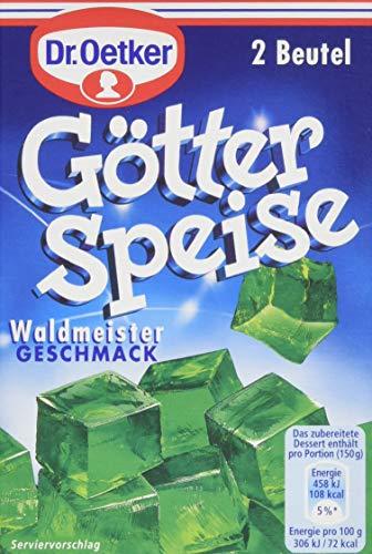 Dr. Oetker Götterspeise Waldmeister-Geschmac, 12er Pack (12 x 1000 ml Packung)