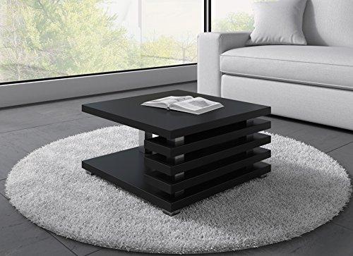 Tavolino da caffè tavolino da salotto tavolo oslo 60 x 60 cm opaco nero