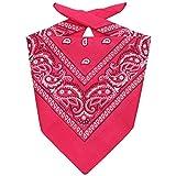 Lipodo bandana da uomo/donna/bambini | Fazzoletto in 100% cotone | Fascia multifunzione taglia unica (55 x 55 cm) | rosa | Una versatilità senza confini