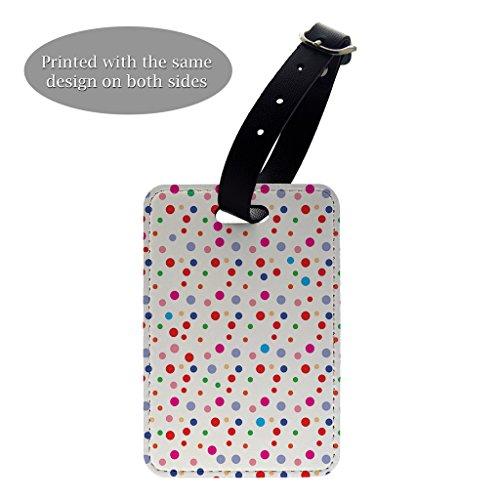 Gepäck-tags Dots Polka (Polka Dots Kunstdruck Design Muster Gepäck Koffer Gepäck Tag–P747)