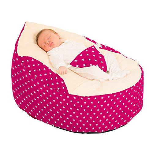 rucomfybeanbags Luxury Cuddle Soft Sterne Baby GaGa Sitzsack Staubbeutel (Cerise Pink)