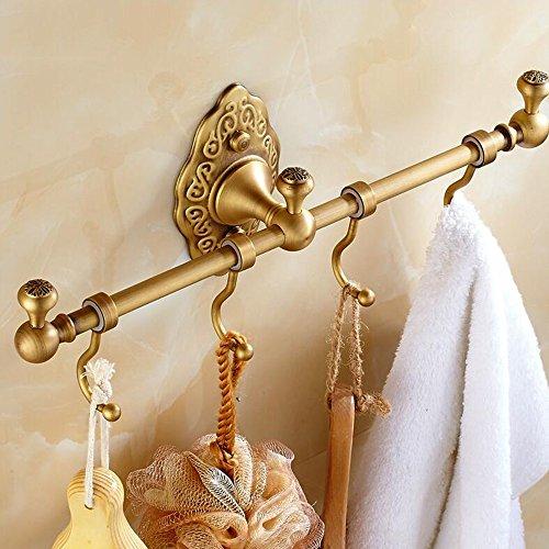 FUFU Barres de Serviette Tous Copper Black / Gold Crochet Porte-serviettes Tous Copper Serviette Bar Single Rod Salle de bains Accessoires de salle de bain ( Couleur : Or )