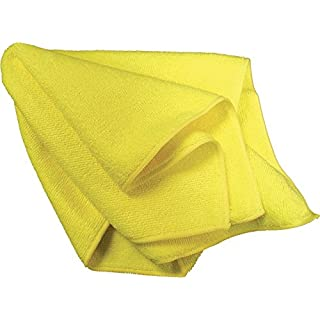 AMMEX - MF50G16X16YL - Microfiber Towel - Fast Absorbing, Soft and Lint Free, Machine Washable, Yellow (Case of 144)