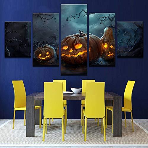 Leinwanddrucke Moderne Leinwand Drucke Wohnkultur Poster Wandkunst Halloween Kürbisse Lampe Gemälde Für Wohnzimmer Bilder ()