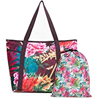 Desigual Tropic Carry Shoulder Bag Raspberry Bis