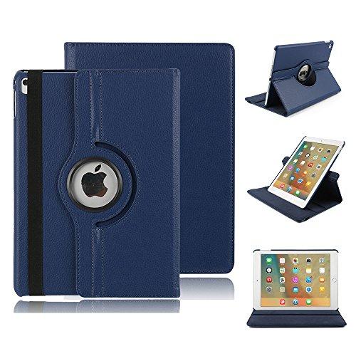 12.9'' iPad Pro 12.9 Hülle, elecfan® iPad Pro 12.9 Zoll 360 drehende Smart Hülle PU Leder Abdeckung Gehäusedeckel für Apple iPad Pro 12.9 Zoll (iPad Pro 12.9, Blau)