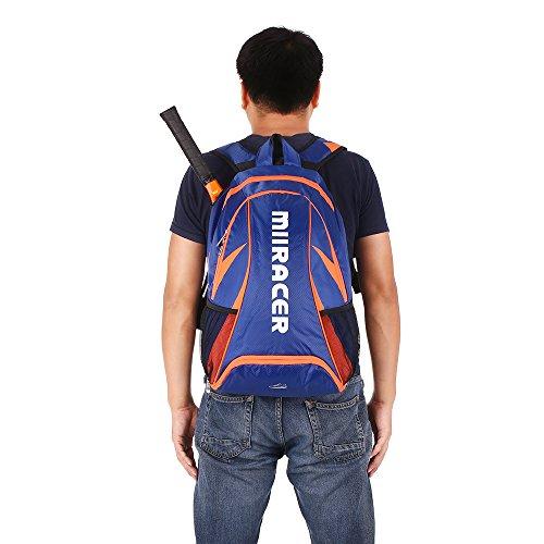 Lixada Badminton Racket Rucksack/Tennisschläger Rucksack Schultertasche, Dimension: 47 * 33 * 20cm Outdoor Sporttasche. Blau