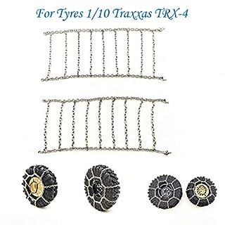 jieGREAT  Metallkette Räumungsverkauf  , Metall-Schnee- & EIS-Reifenketten Anti-Rutsch-Radkette für Reifen 1/10 Traxxas TRX-4