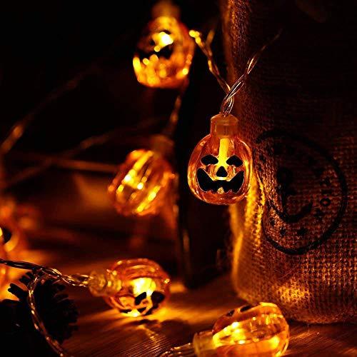 Luci del festival fantasma, scatola batteria a led stringa di zucca di halloween fai da te soggiorno, camera da letto, stanza dei bambini, festa e altre strisce luminose decorative, a