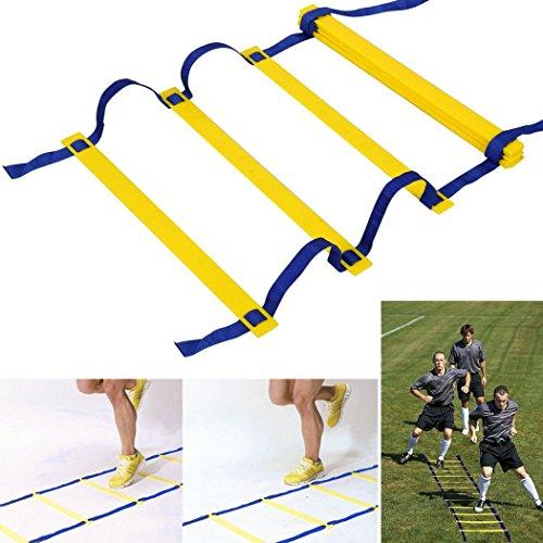 Ancheer 13 Rung 7M dauerhafte Koordinationsleiter Trainingsleiter, Geschwindigkeit Leiter Agility Ladder für Fußball, Geschwindigkeit, Fußball Fitness Füße Training