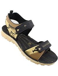 Claptrap Men's Black Sandals & Floaters