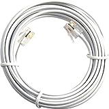 Jafsal britannique de qualité premium–Contact plaqué Or broches ADSL 2+ High Speed Internet Haut débit–routeur ou modem vers RJ11prise de téléphone...