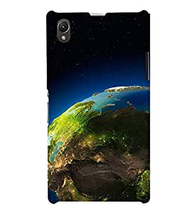 SPACE VIEW OF THE PLANET EARTH 3D Hard Polycarbonate Designer Back Case Cover for Sony Xperia Z1 :: Sony Xperia Z1 L39h