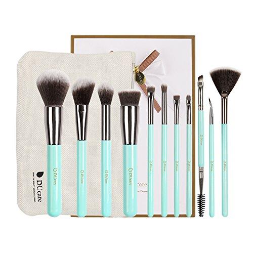 Ducare Flat Top Kabuki Pinceau à fond de teint liquide Estompeur Poudre minérale Maquillage outils