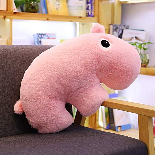 luludsoo Peluche Toy Animals Farcied Pillow Toys, Alta qualità E Peluche Dettagliato, Bambini Coppie di Bambini, Pp Cotone 50cm Ippopotamo Rosa