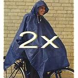 2 oder 4 Stück Regenponcho / s mit Kaputze waschbar bis 20 C gute Qualität Sparpackung