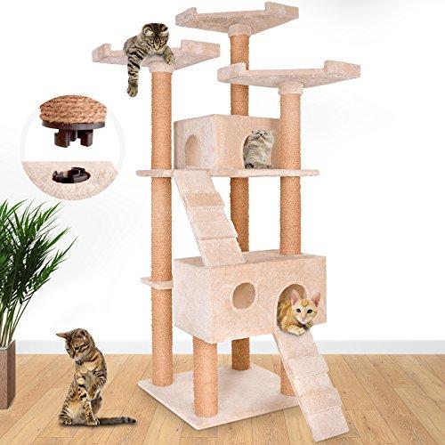 leopet-arbol-rascador-para-gatos-con-cuevas-escaleras-y-plataformas-color-beis