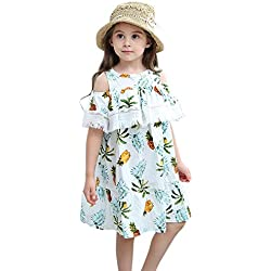 Ocamo vestido de princesa, elegante falda de piña para hombro, vestido de fiesta de boda, Blanco, 110 cm