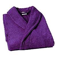 Lasa Pure - sjaalkraag badjas, maat L, col. donkerpaars