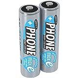ANSMANN Akku Batterie für Schnurlostelefon Mignon AA, 1,2V / 1300mAh / Wiederaufladbare Telefonakkus mit geringer Entladung & ohne Memory Effekt, Ideal für DECT-Telefone (2er Pack) -
