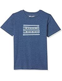 Billabong Spray Die Cut SS Camiseta, niño, Azul Oscuro, ...