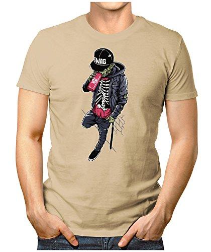 PRILANO Herren Fun T-Shirt - SWAG-ZOMBIE - Small bis 5XL - NEU Khaki