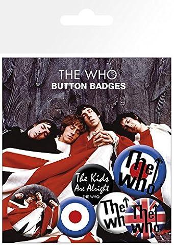 GB eye the Who Lyrics and Logos Badge Pack