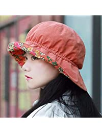 Oudan Sombrero de Mujer Ms Cap All Season Sombrero Visera Plegable Roto  Flor Sombrero Sombrero de 906a413f244