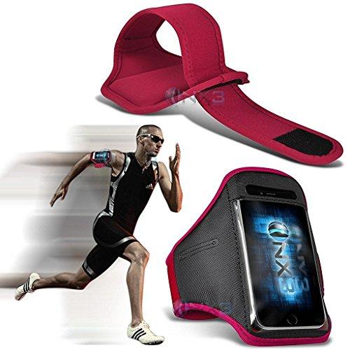 ONX3 HTC 11 Case (Pink) Fall-Abdeckung Einstellbare Fitness Laufen Jogging Radfahren Gymnastik-Armbinde-Halter - Htc Elf