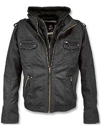 Rock Jacket Leather Vintage Black Brandit fPwZqU5nO