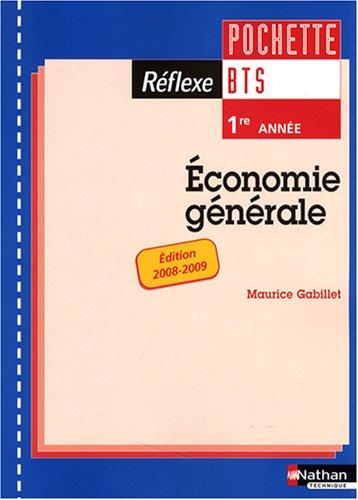 Economie générale BTS 1e année