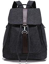 Greeniris Mädchen Segeltuch Rucksack Damen Reise Vintage Schulrucksack für Damen