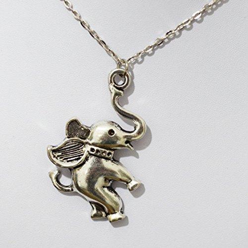 Elefante Collana-Collana-Collana ciondolo a forma di elefante, animale elefante, elefante gioielli-Cina in miniatura animale-Elefante