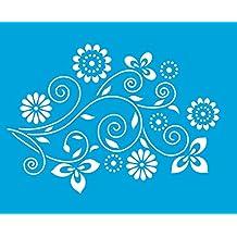 21cm x 17cm Stencil Plantilla Plástico Reutilizable para Decoración Paredes Tela Camiseta Muebles Manualidades Arte Artesanía Diseno Gráfico Dibujo Técnico -