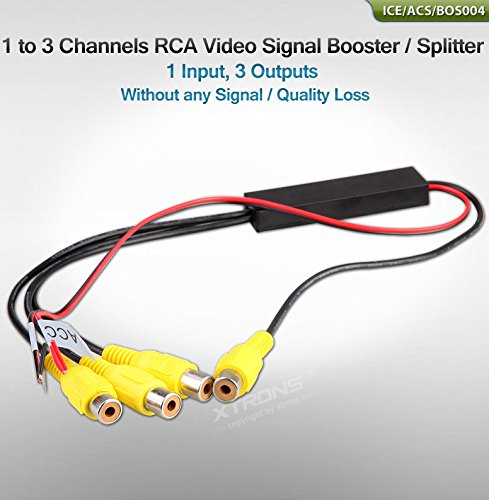 Video-signal-booster (XTRONS 1 bis 3 Kanäle Möglichkeiten Video Signal Verstärker Booster Splitter Kabel Verteilung 1 to 3 Channels RCA Video Signal Booster/Splitter)