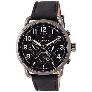 Tommy Hilfiger Reloj Multiesfera para Hombre de Cuarzo con Correa en Cuero 1791426