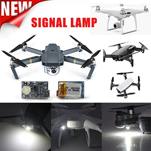 diadia Taschenlampe LED Licht Night Cruise UAV Locator LED Taschenlampe Kit für DJI Mavic PR/Mavic Air/Phantom 4 Pro/inspirieren 1/RC Aircraft yuneetyphoon H Q500 (Led Locator)