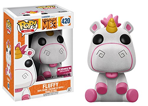 Funko - Unicornio Fluffy Exclusivo (Flosked figure - figura suave), vinilo, POP!, Despicable Me 3 (Gru 3) (14477)