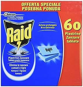 Raid plaquettes anti moustiques recharge 60 pi ces - Raid anti moustique ...