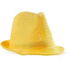 Sombrero de Pascua amarillo para chicos, chicas y niños – Gorro de mimbre y paja de imitación para Pascua – Perfecto para decoración y fiestas de Pascua
