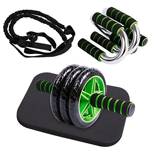 GYMBOPRO 4-in-1 AB Roller Bauchtrainer,AB Wheel für Fitness Bauchmuskeltraining Muskelaufbau Bauchroller für Frauen und Männer