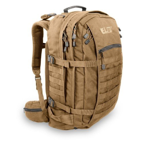 Elite Sistemas de Supervivencia Unisex Mochila, Tan misión Pack, Coyote Tan