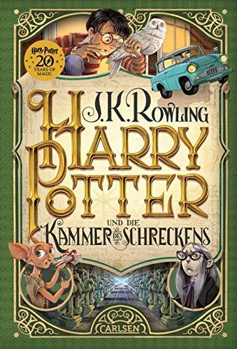 Carlsen Verlag Harry Potter und die Kammer des Schreckens (2 Band, Gebundene Ausgabe) + 1x Original Harry Potter Button