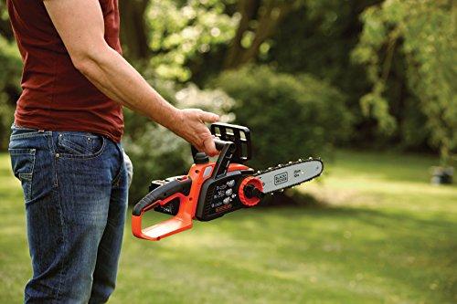 Black+Decker Li Ion Akku-Kettensäge 18V GKC1825L20 mit Akku und Ladegerät / Ideal für Holz- & Gartenarbeiten / 25 cm Schwertlänge - 8