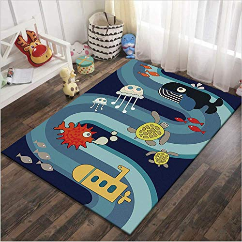 SHJIA Baby Hopscotch Spielmatte Kinder Aktivität Spielen Gym Mats Kinder Infant Road Teppiche Krabbeln Teppich für Kinderzimmer -