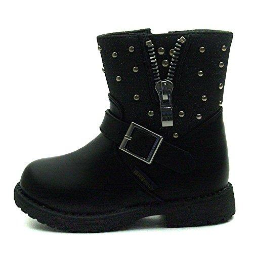 SB173 Studio BIMBI Baby Boots w/zip Mid Calf for Girls >      > Bébé Bottes w / zip Mi-mollet pour les filles Black (noir)